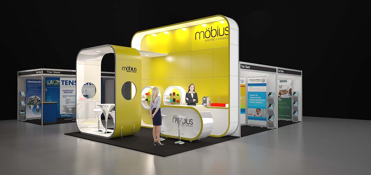 Exhibition Stands Prices : Möbius m modular exhibition stand without the custom