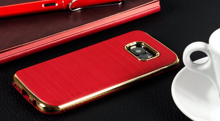 849262f8507 Motomo Ino Line Infinity Galaxy S7 Case - Iron Red / Chrome Gold ...