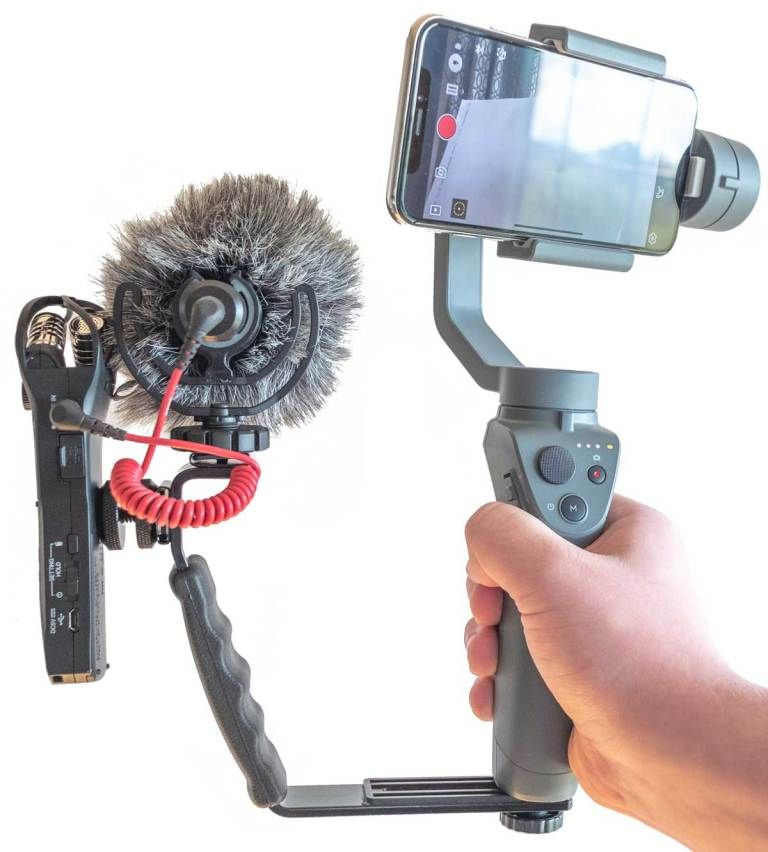 Franken-Cam: DJI Osmo Mobile 2 with Zoom H1n, Rode External Mic