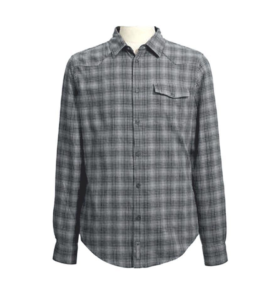 Calvin Klein Jeans Men's Flannel Plaid Shirt Gunmetal Heather GraySize Large NWT