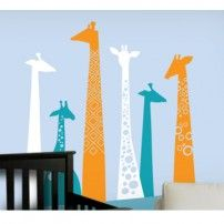 Giraffe Wall Decal for Baby Nursery - Removable Wall Decals