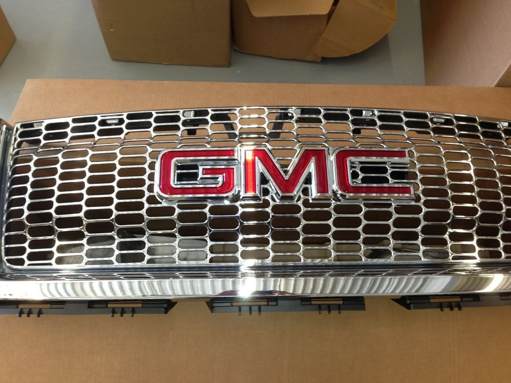 2007 2013 Gmc Sierra 1500 Light Duty Chrome Grille Oval Pattern 22767481 Oem Gm Gmc Sierra 1500 Gmc Sierra Sierra 1500