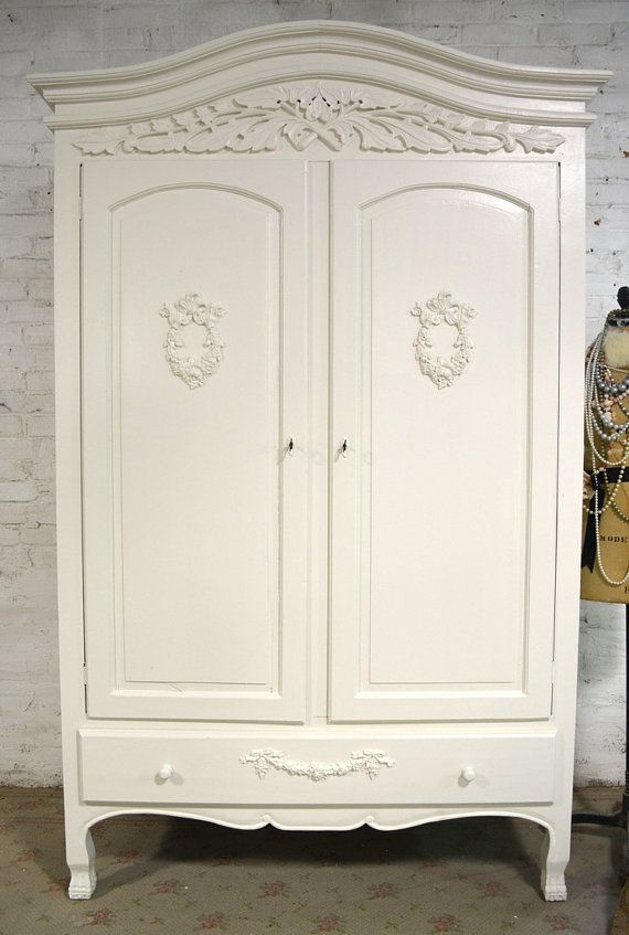 French Armoire Painted Cottage Chic Shabby French Romantic Armoire ...