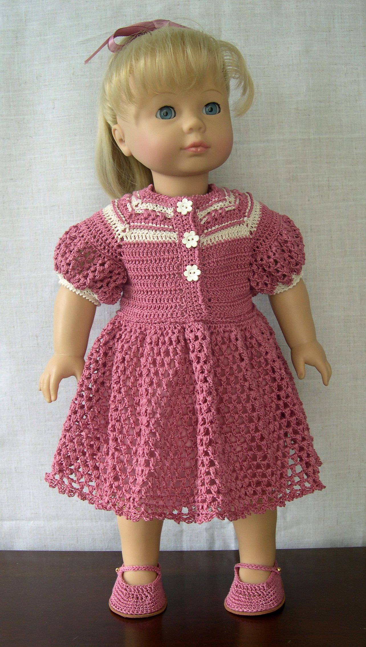 Crocheting Doll Clothes : 18 inch Doll Clothes Handmade outfit made to fit 18 dolls like ...