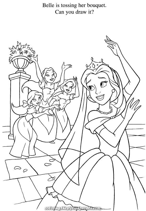 Magical Stunning Coloring Disney Coloring Pages Wedding Coloring Pages Disney Princess Coloring Pages