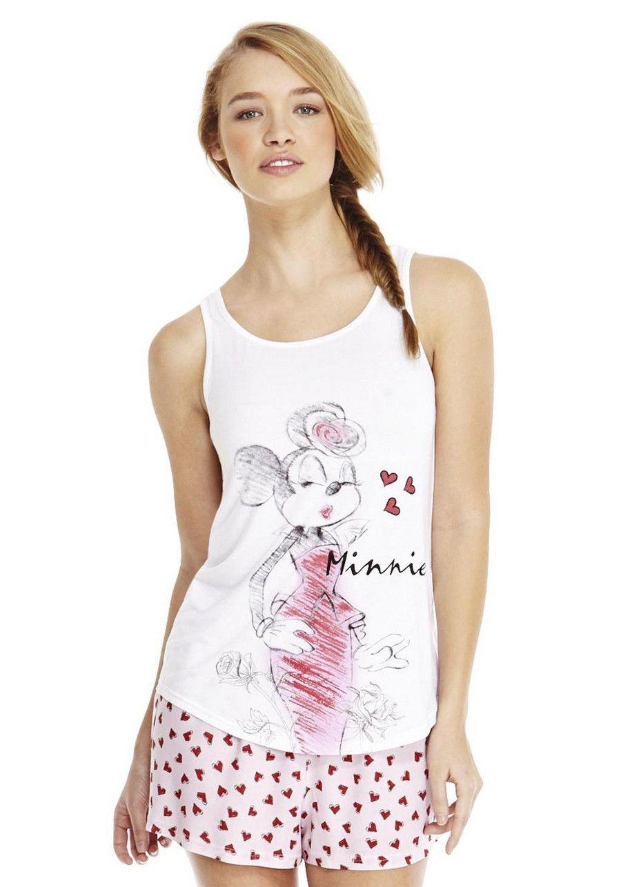 b30419b18dd8 Clothing at Tesco   Disney Minnie Mouse Shorts Pyjamas nightwear Nightwear  Slippers Women