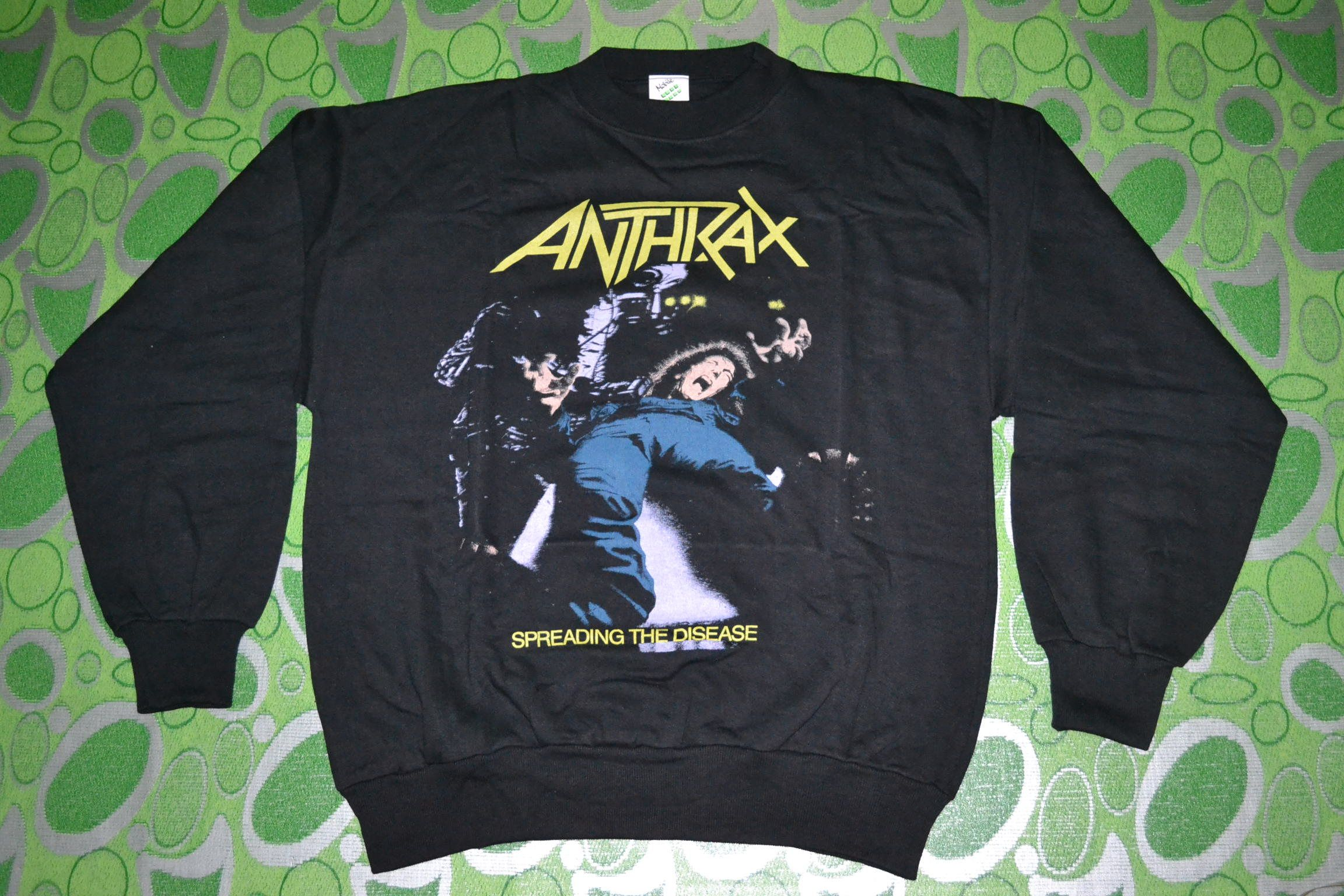 Black sabbath t shirt etsy - 20 Vintage 80s Anthrax Spreading The Disease Tour Concert Promo Xl Size Rare Sweatshirt T Shirt