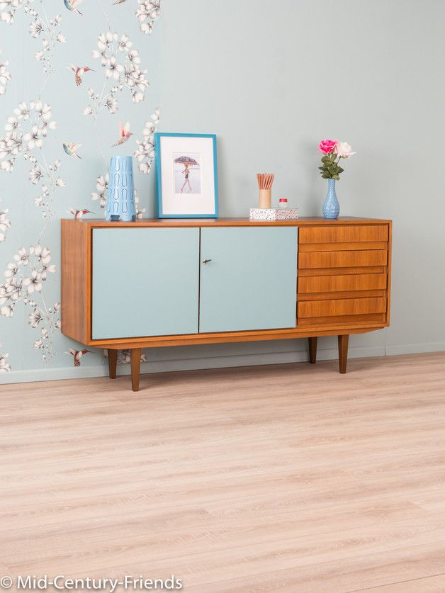 wundersch nes sideboard im 60er jahre stil vintage m bel retrot teak sideboard danish design. Black Bedroom Furniture Sets. Home Design Ideas