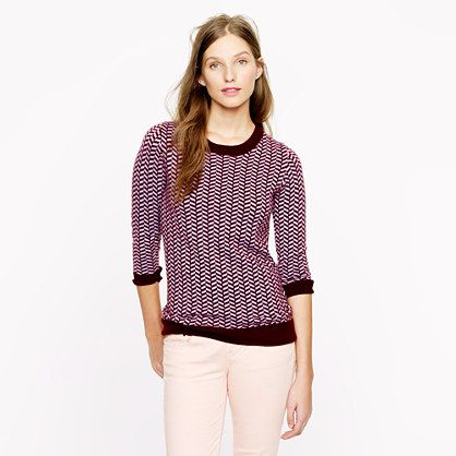 Collection cashmere herringbone sweater. J.CREW. Nice purple toned ...