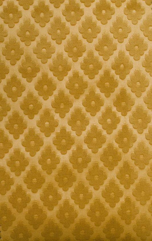 Cassandre Velvet Damask Embossed Gold Velvet Upholstery Fabric With