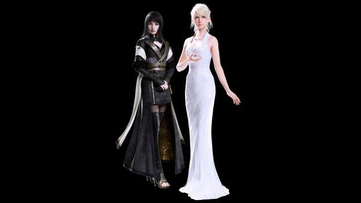 Luna And Gentiana Final Fantasy XV Wallpaper