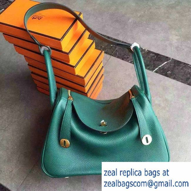 d2c2ad29bf66 ... netherlands hermes lindy 26 30 bag in original togo leather malachite  e5399 a54a4