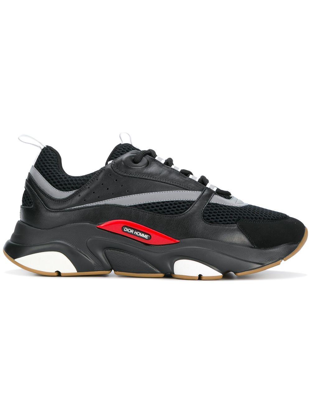 Dior B22 休闲运动鞋 In Black   ModeSens
