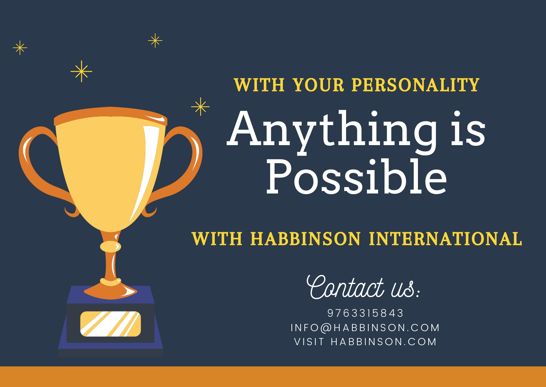Be your own asset with Habbinson International. A course ...