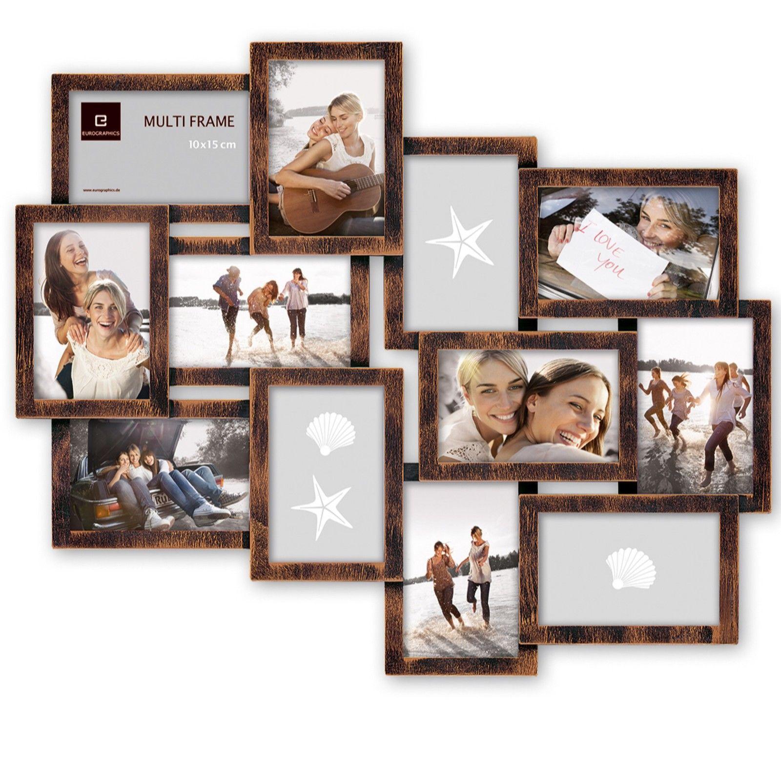 Picture frame bronze 60x50 cm 12 frames multiframe collage framework ...