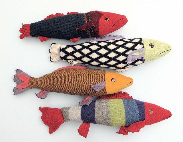 Fisch Kuscheltiere Bastelarbeiten Basteln Mit Socken Fisch Nahen