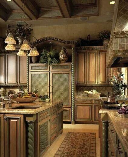 Mediterranean Kitchen Cabinets: Pin By Debbie Rasco On Kitchens
