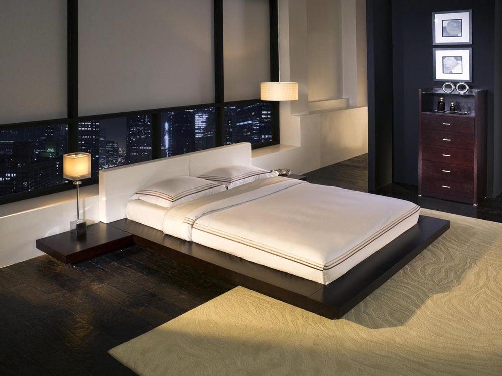 Tokyo Platform Bed 2 Nightstands Japanese Inspired Bedroom