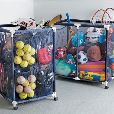 Storage Bins Bry Would Like Large Size To Organize His Sporting Equipment Clutter In The Garage