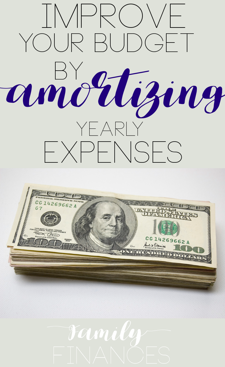 Amortizing Personal Costs Personal Budget Best Money Saving
