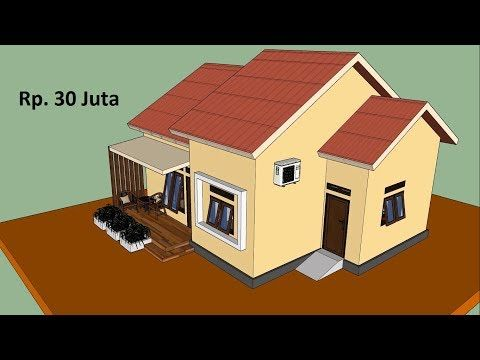 desain rumah minimalis 8 5x7 dengan 3 kamar tidur - desain