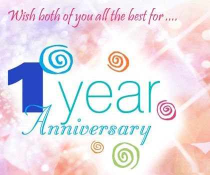 1st Wedding Anniversary Wishes For Friend 5