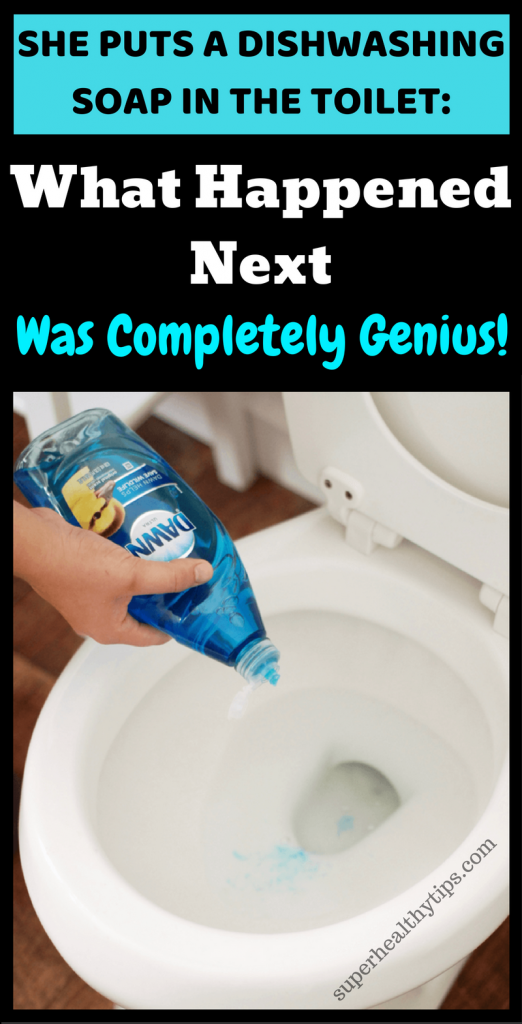 She Puts A Dishwashing Soap In The Toilet What Happened Next Was Completely Genius Video Dishwasher Soap