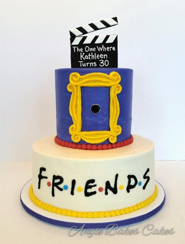 Ill Be There For You Friends Themed Cake Theme Cakes Pinterest