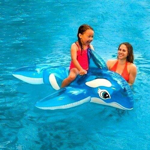 Inflatable Whale Ring Ride Realistic Design Printing Durable Buoy Life On Pool #INTEX