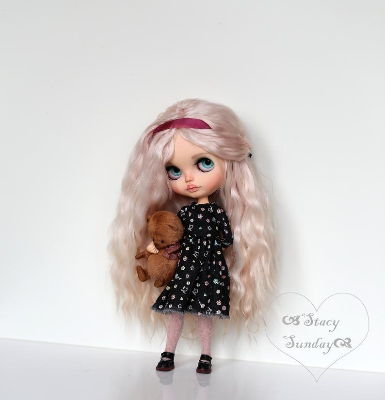 OOAK custom Blythe doll - Gloria, a delightful Blythe custom doll with handmade Blythe outfit - #- #a #Blythe #Custom #Delightful #Doll #Gloria, #Handmade #OOAK #Outfit #with
