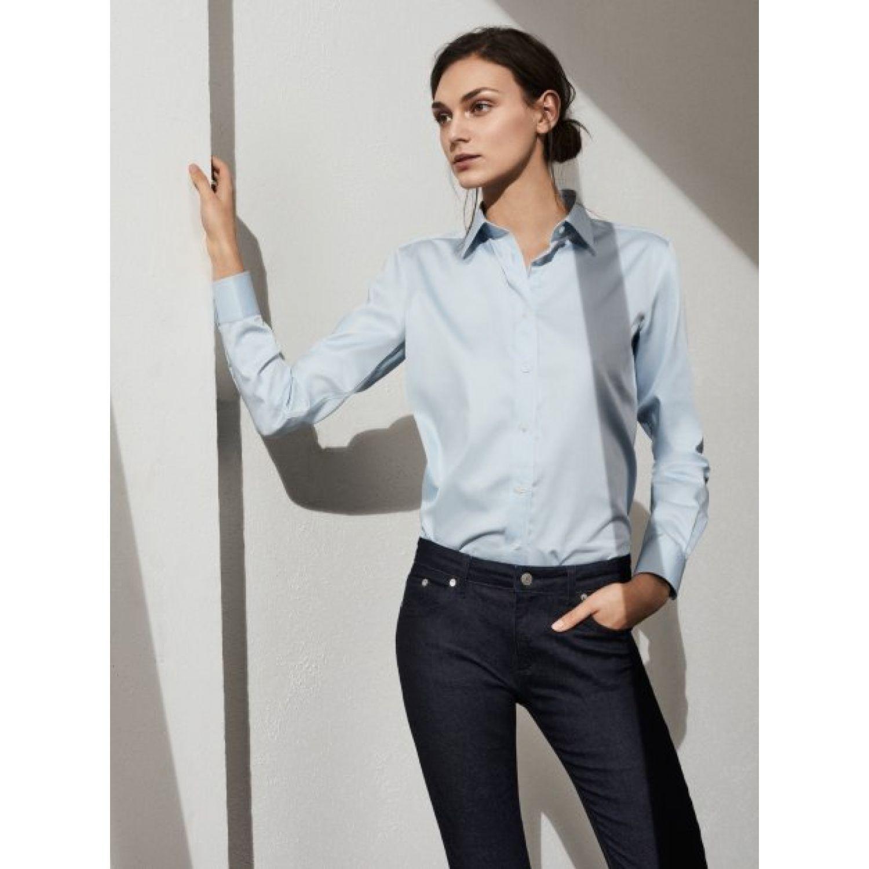 GANT Diamond G Women s The Pinpoint Oxford Shirt Capri Blue ... 46195dcec1843