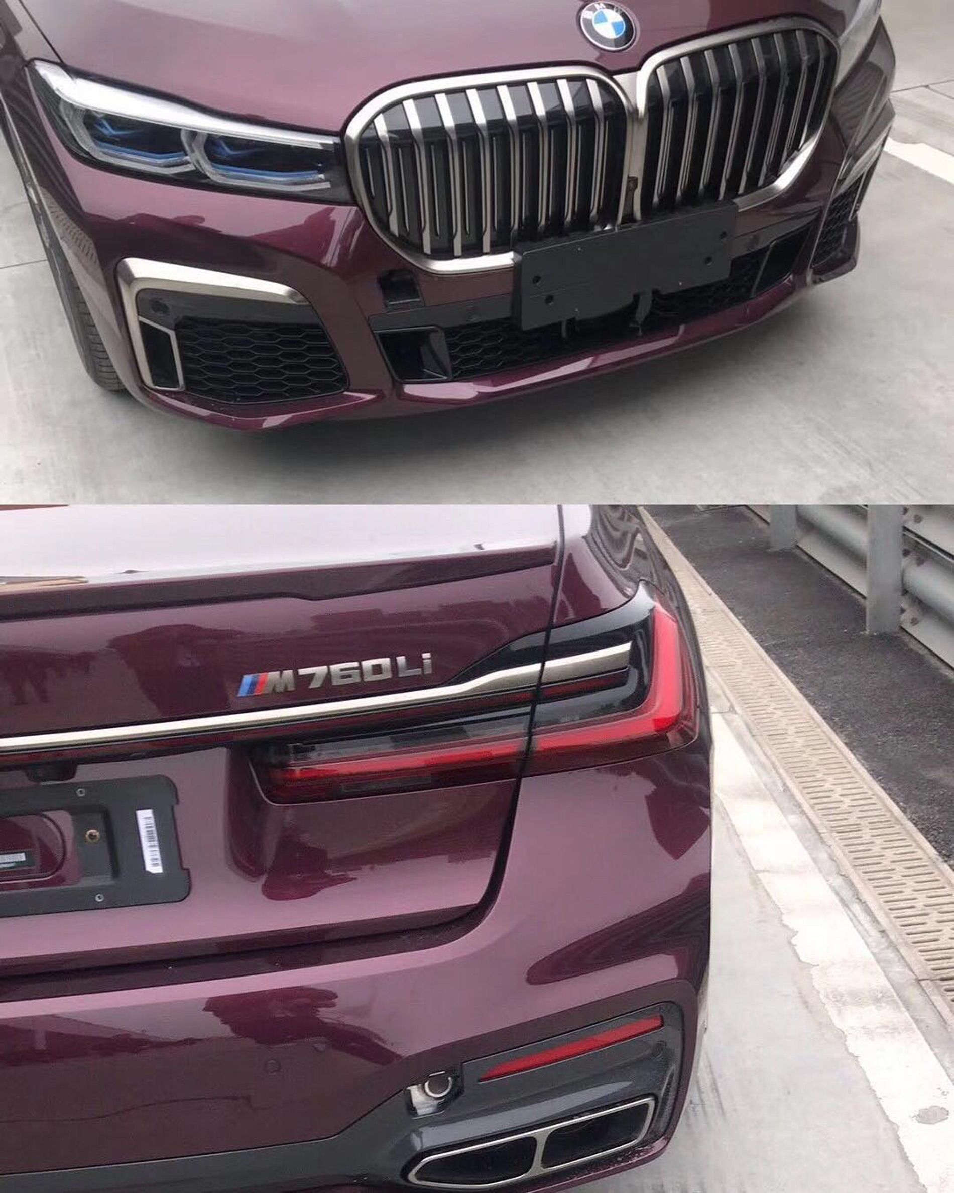 The BMW 7 Series Facelift leaks continue Bmw car models