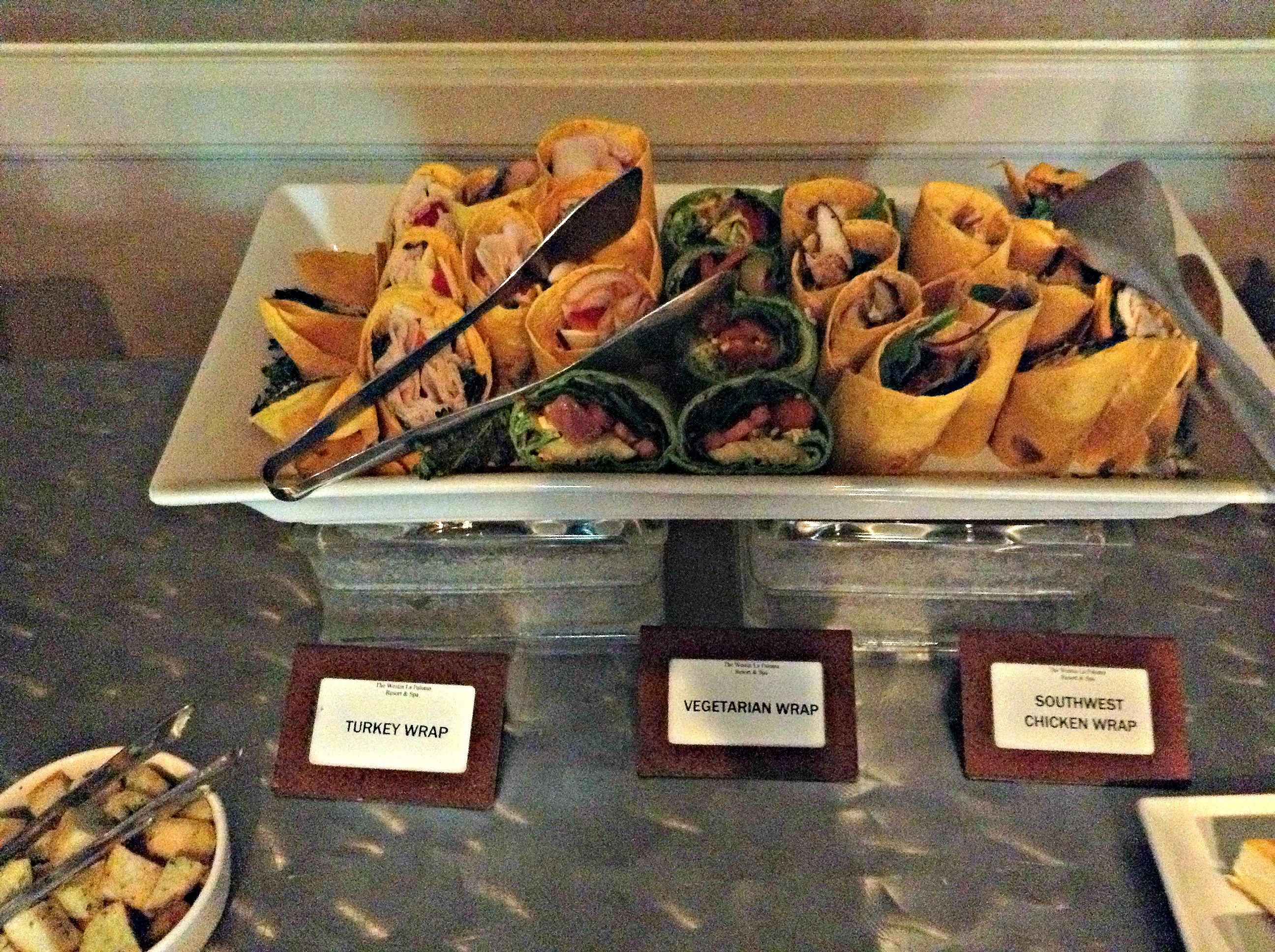 Our Turkey Vegetarian And Southwest Chicken Wraps The Westin La