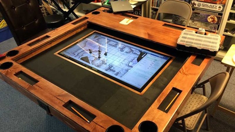 Superior Build A Dream Gaming Table That Can Even Include An Embedded Digital  Mapping System