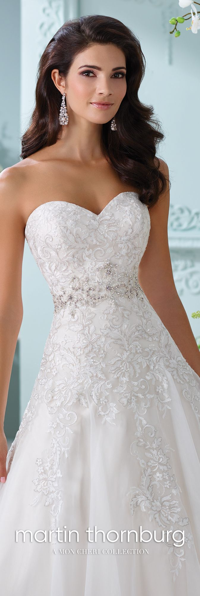 Strapless Sweetheart Neckline Lace A-Line Wedding Dress-116210 Laina ...