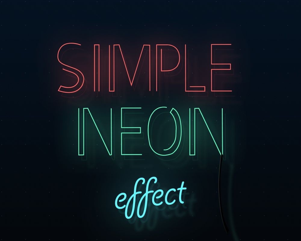 A stylish looking neon text effects 3 colors included promote a stylish looking neon text effects 3 colors included promote your glow or neon baditri Image collections