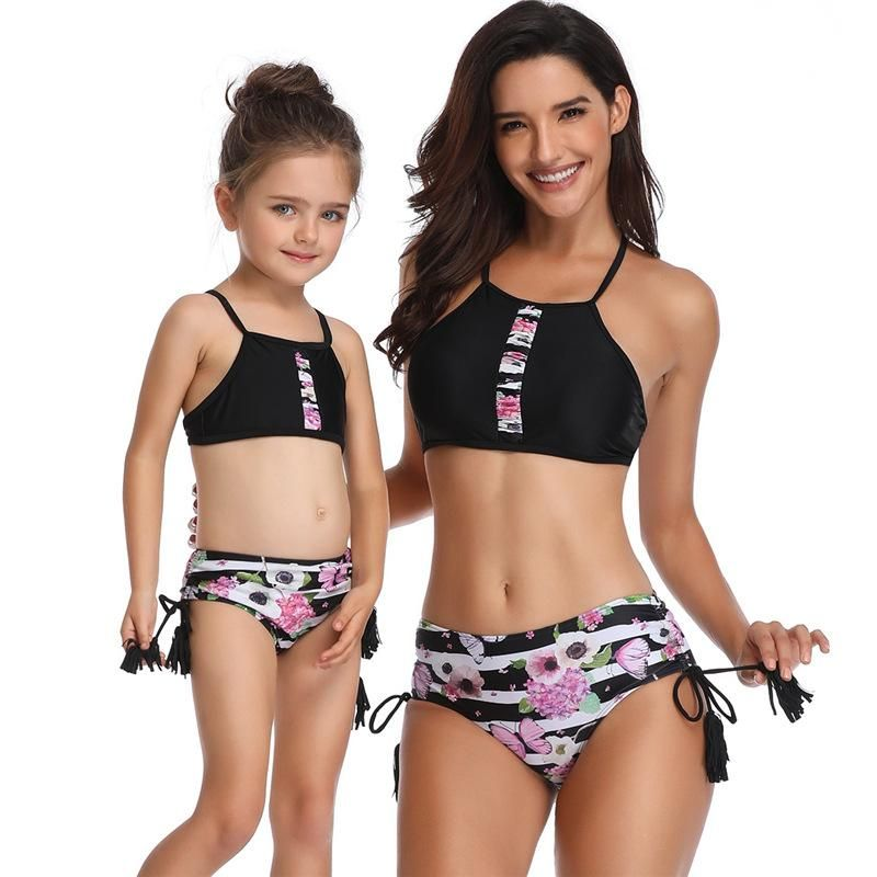 08a28ba0b8acf Parent-child Swimsuit Family Matching Swimwear in 2019 | Swimwear ...