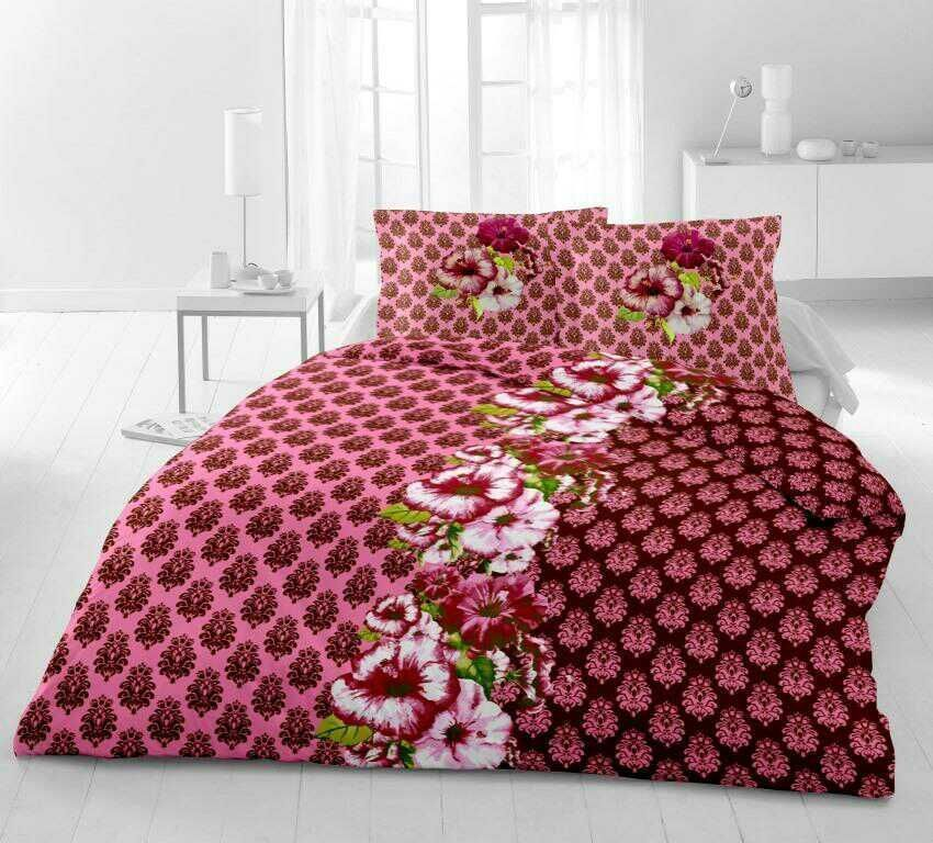 Arav Enterprises 100 Cotton Double Bed Sheet 90x100 In Bed Sheet 17x27 In Two Pillows Book Fold Weight Double Bed Sheets Bed Sheets Double Duvet Set