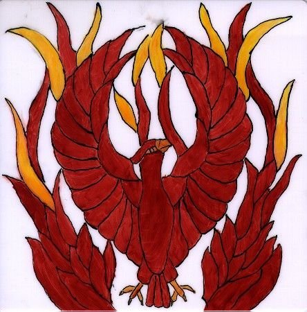 stained glass phoenix - Google Search