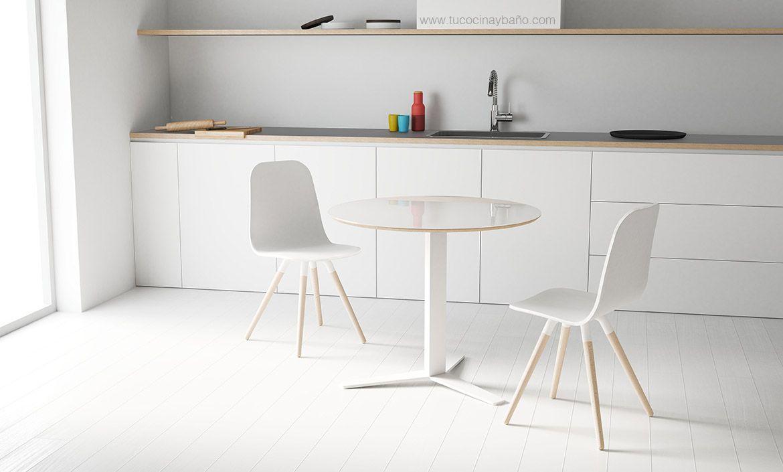 Silla cocina n rdica pata madera tu cocina y ba o mesas sillas y taburetes de estilo nordico - Sillas cocina madera ...