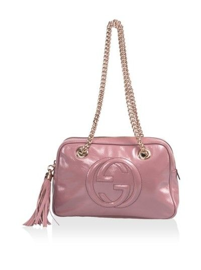 041ad9bc665 Gucci Soho Small Leather Shoulder Chain Bag Pink Patent