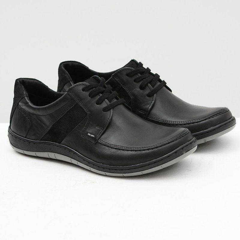 Komodo Skorzane Meskie Klasyczne Czarne Polbuty Rocco Dress Shoes Men Dress Shoes Oxford Shoes