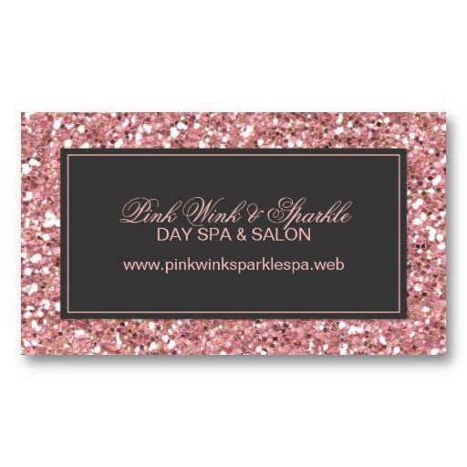 Trendy pink glitter business card exceptional business cards trendy pink glitter business card colourmoves