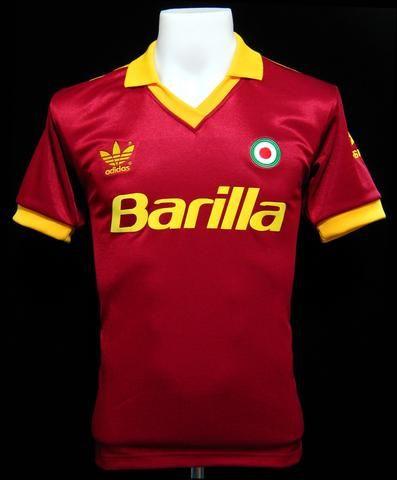 As Roma 1991 92 Home Shirt Camisas