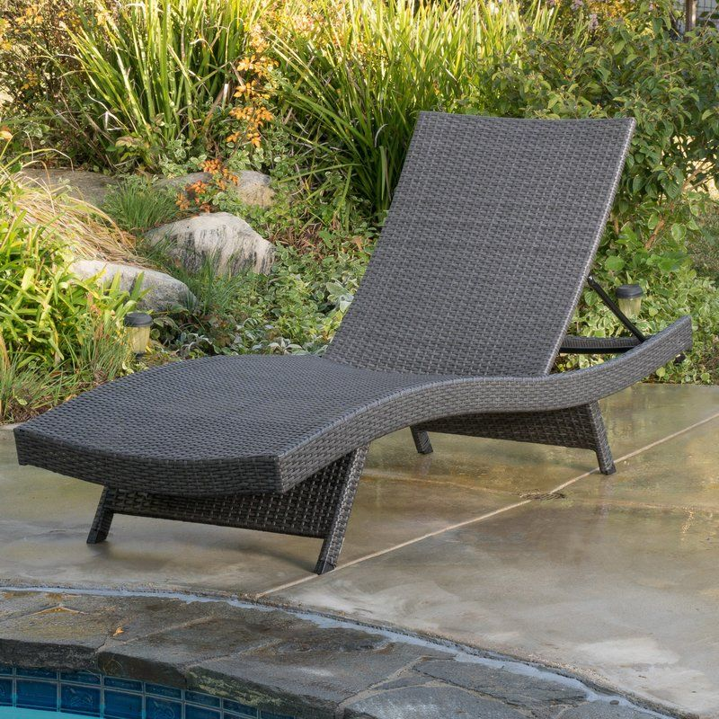 Stupendous Rebello Reclining Chaise Lounge In 2019 Patio Chaise Machost Co Dining Chair Design Ideas Machostcouk