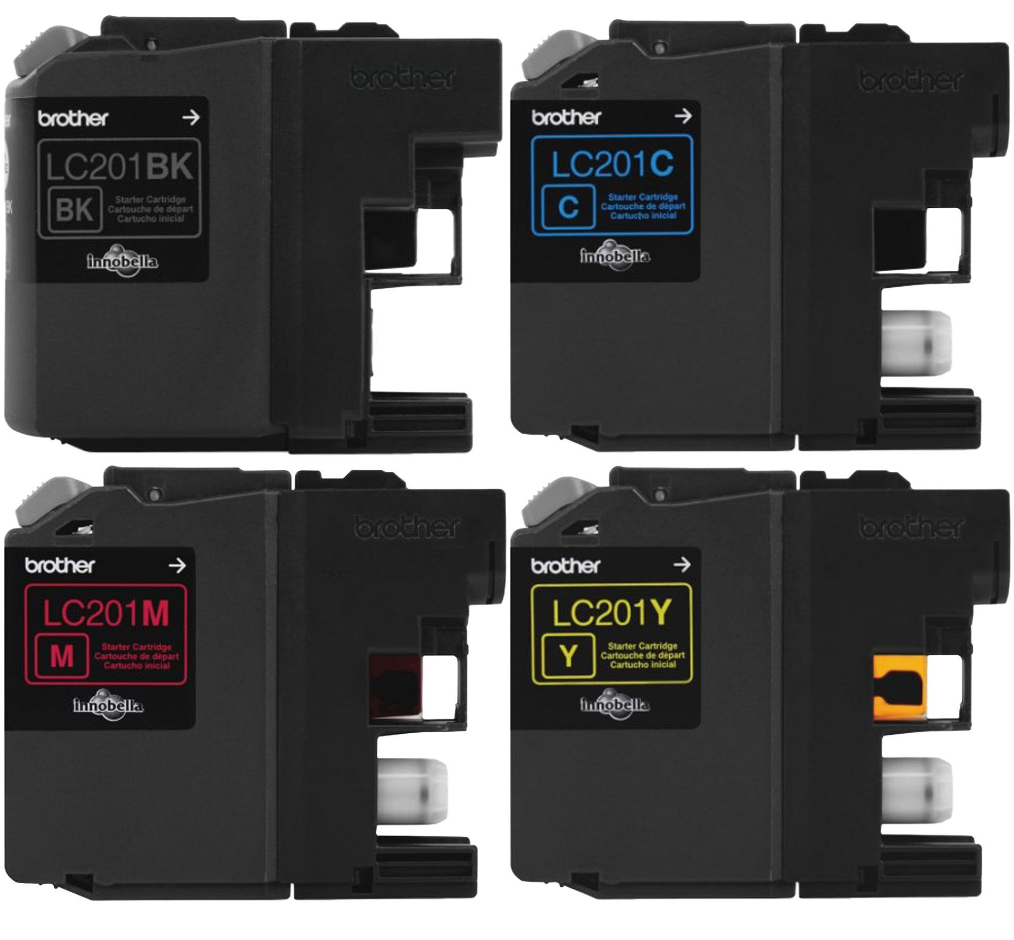 Brother Lc 201 Ink Cartridge 4 Pack In Bulk Packaging For Label Tape Tze 242 18mm Red On White Tze242 Mfc J480dw J680dw J880dw J885dw