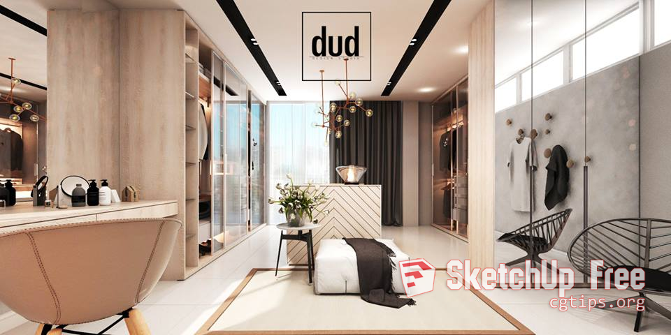 946 Interior Scene Sketchup Model By Dud Design Free Download