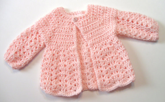Top Down Crochet Baby Sweater Pattern Instant Download Omas