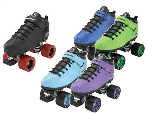 Riedell Dart Speed Roller Skates Derby Skating Rink Quad Boys Girls Men's Ladies