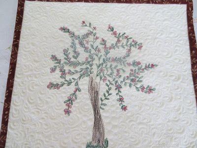 Käsin ja koneella:   Puu  näin keväällä tai alku kesästä voi kukkia ...
